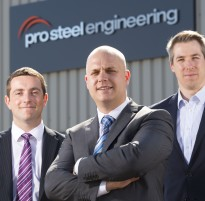 Alan Jones at BPU Accountants, Richard Selby at Pro Steel Engineering and Oliver Jenkins at Finance Wales