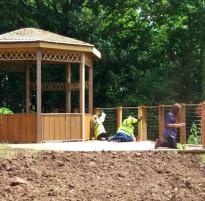 Memorial garden build
